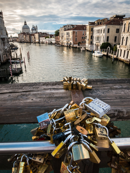 Padlocks on the Ponte dell'Accademia