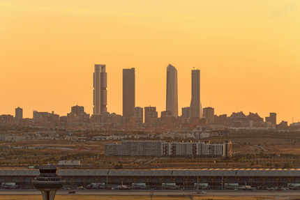 Madrid at sunset