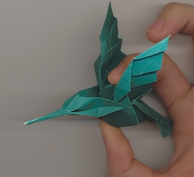 Customizable Origami Hummingbird by mightynozzle - Thingiverse   749x818