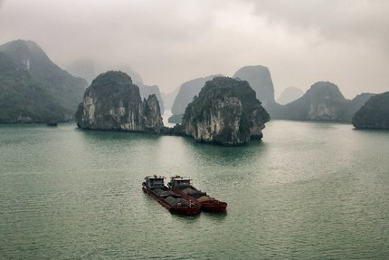 Ha Long Bay Karsts from the Upper Deck