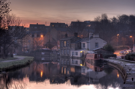 Rodley Canal at Sunrise