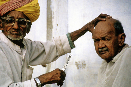 Traditional Barber . India