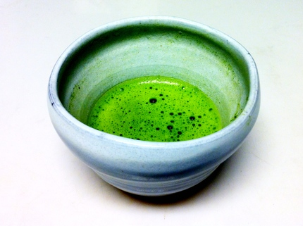 First cup of matcha green tea