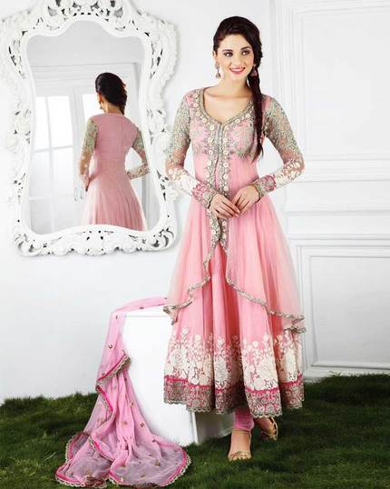 Mirraw Ethnic Light Pink Anarkali Suits