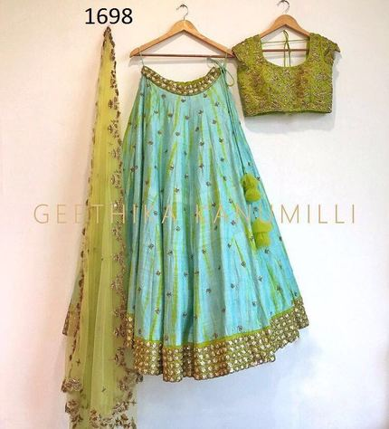 New Designer Work Lehengas Choli with Dupatta